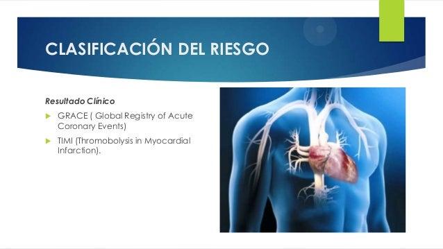 CLASIFICACIÓN DEL RIESGO Resultado Clínico  GRACE ( Global Registry of Acute Coronary Events)  TIMI (Thromobolysis in My...