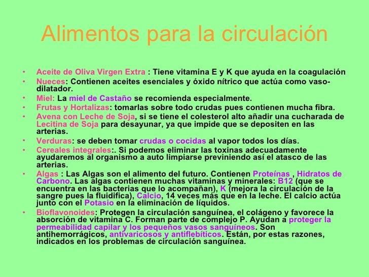 Tratamientos naturales para los problemas circulatorios - Alimentos para la circulacion ...