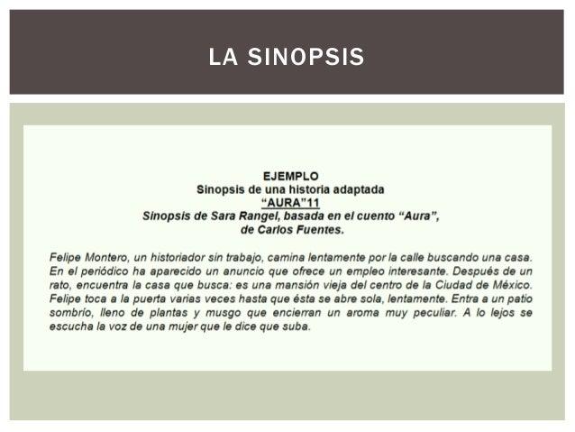 Sinopsis, tratamiento y guion literario