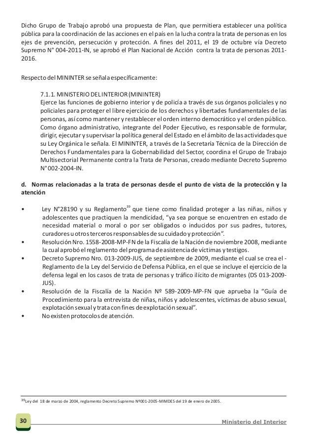 Nacional Nacional Línea contra la trata de personas 0800-2-3232 Superintendencia Nacional de Migraciones CUADRO 4 Programa...