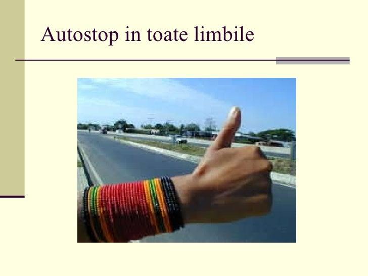 Autostop in toate limbile