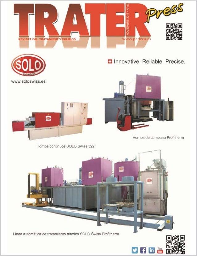 Cover TRATER PRESS Edition November 2018 – SOLO Swiss SA