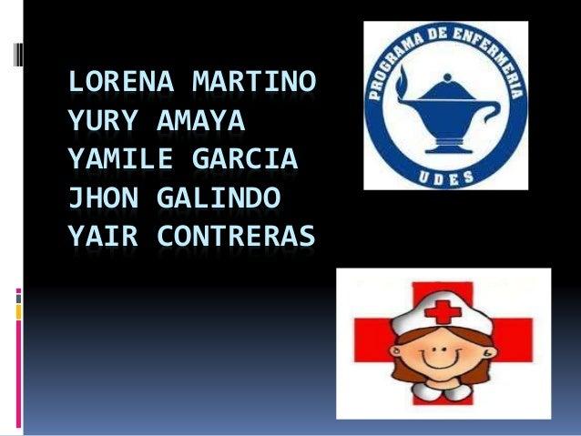 LORENA MARTINO YURY AMAYA YAMILE GARCIA JHON GALINDO YAIR CONTRERAS
