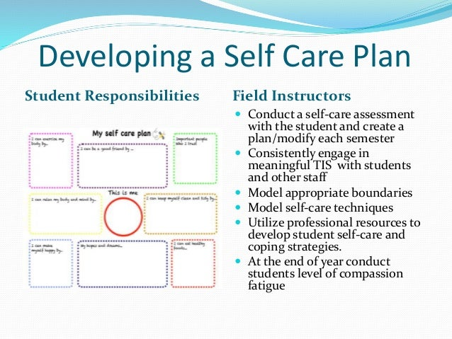 Trauma informed clinical supervision in the field social for Self care plan template