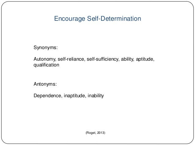 Synonyms for determination