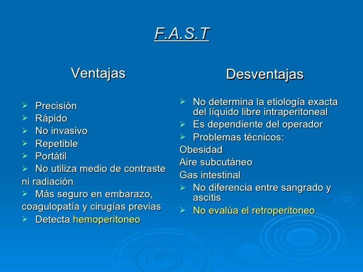 F.A.S.T <ul><li>Ventajas </li></ul><ul><li>Precisión </li></ul><ul><li>Rápido </li></ul><ul><li>No invasivo </li></ul><ul>...