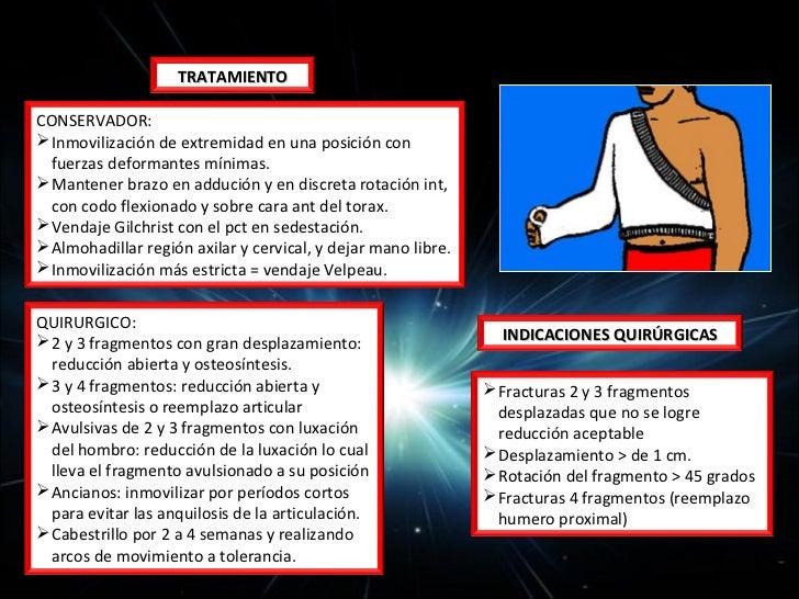 TRATAMIENTO                                   COMPLICACIONES CONSERVADOR: (tipo l) Inmovilización con férula       Luxac...