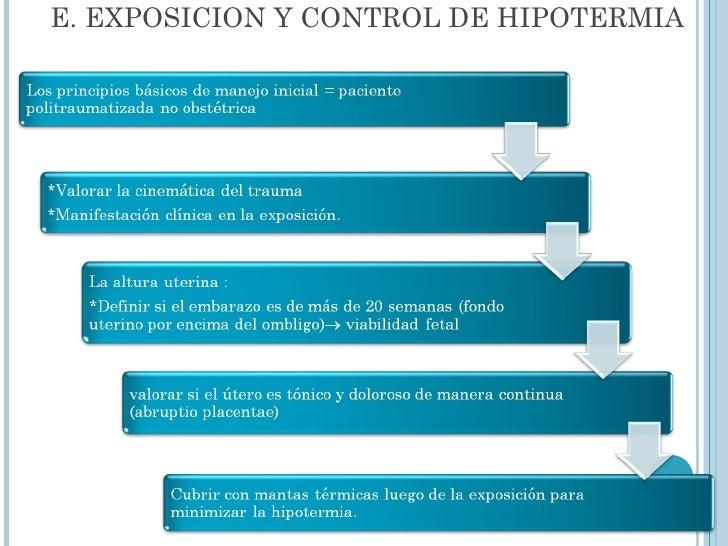E. EXPOSICION Y CONTROL DE HIPOTERMIA