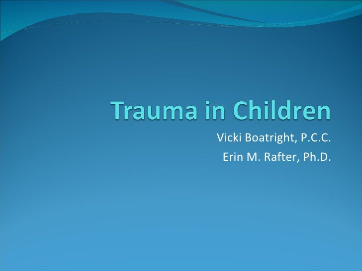 Vicki Boatright, P.C.C. Erin M. Rafter, Ph.D.