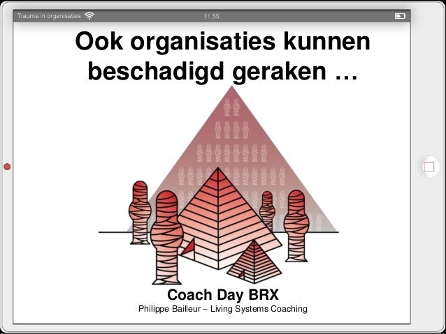 Ook organisaties kunnen beschadigd geraken … Coach Day BRX Philippe Bailleur – Living Systems Coaching
