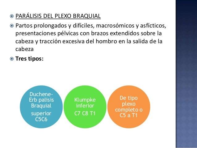  PARÁLISIS DEL NERVIO FRÉNICO  Presentación pélvica  Daño en raíces de C3-C4  Ocasiona parálisis diafragmática, unilat...
