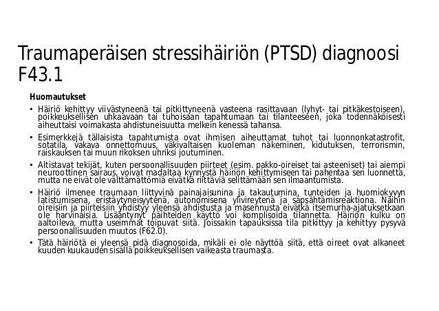 Posttraumaattinen Stressihäiriö