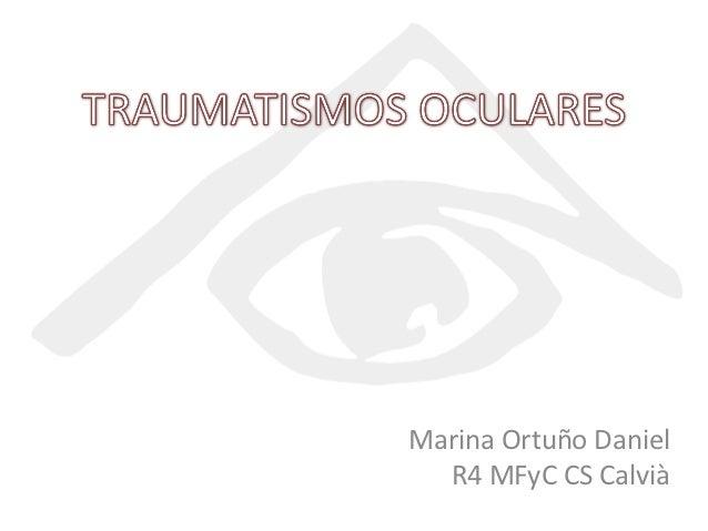 Marina Ortuño Daniel  R4 MFyC CS Calvià