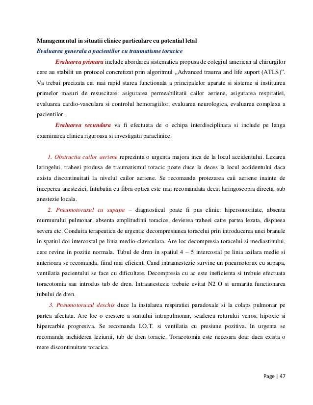 Page | 47 Managementul in situatii clinice particulare cu potential letal Evaluarea generala a pacientilor cu traumatisme ...