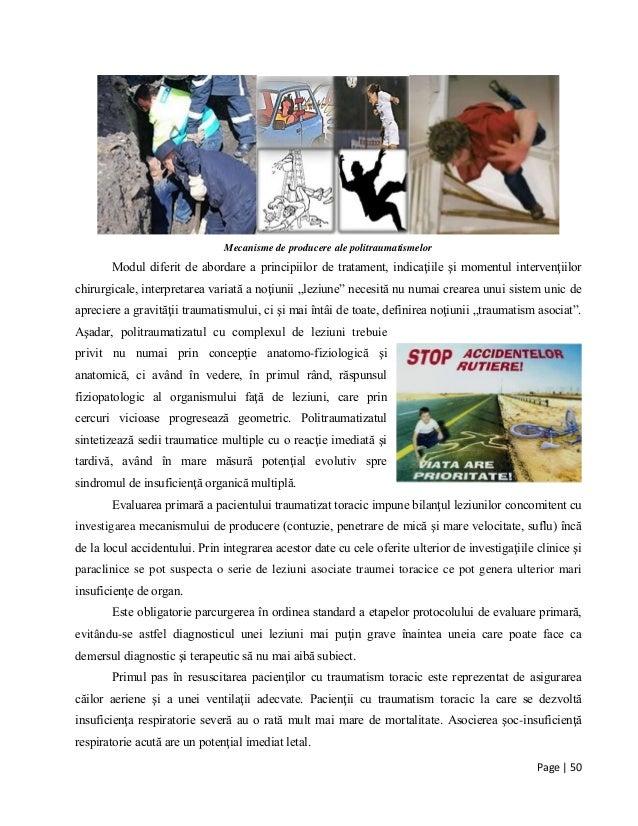 Page | 50 Mecanisme de producere ale politraumatismelor Modul diferit de abordare a principiilor de tratament, indicaţiile...