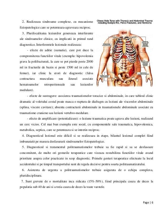 Page | 6 2. Realizeaza sindroame complexe, cu mecanisme fiziopatologice care se potenteaza-agraveaza reciproc. 3. Plurifoc...