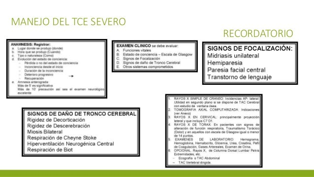MANEJO DEL TCE SEVERO RECORDATORIO