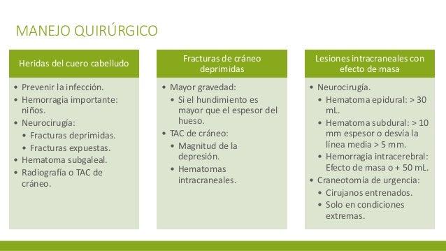 MANEJO QUIRÚRGICO Heridas del cuero cabelludo • Prevenir la infección. • Hemorragia importante: niños. • Neurocirugía: • F...