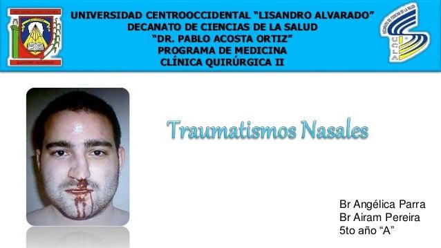 """UNIVERSIDAD CENTROOCCIDENTAL """"LISANDRO ALVARADO"""" DECANATO DE CIENCIAS DE LA SALUD """"DR. PABLO ACOSTA ORTIZ"""" PROGRAMA DE MED..."""