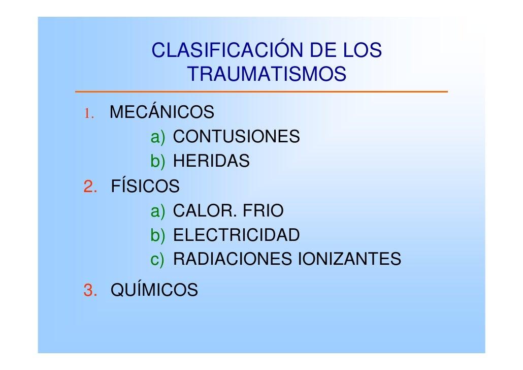 Traumatismos contusiones y heridas for Clasificacion de los planos arquitectonicos