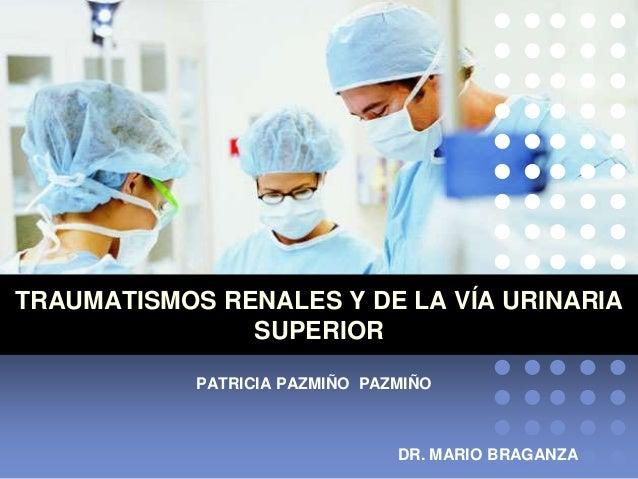 TRAUMATISMOS RENALES Y DE LA VÍA URINARIA SUPERIOR PATRICIA PAZMIÑO PAZMIÑO DR. MARIO BRAGANZA
