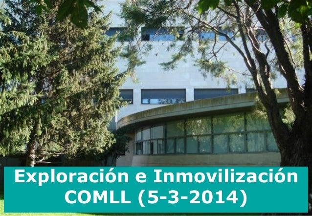 Exploración e Inmovilización COMLL (5-3-2014)