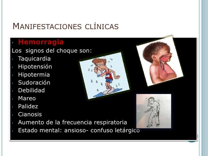 Manifestaciones clínicas <br />Hemorragia <br /><ul><li>Cuando existe hemorragia externa pulsátil, el diagnostico es obvio...