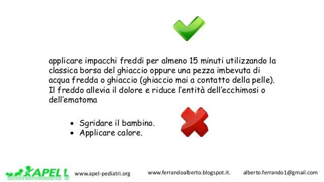www.apel-pediatri.org www.ferrandoalberto.blogspot.it.alberto.ferrando1@gmail.com applicare impacchi freddi per a...