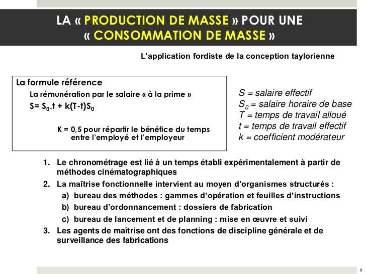 LA « PRODUCTION DE MASSE » POUR UNE               « CONSOMMATION DE MASSE »                                  L'application...
