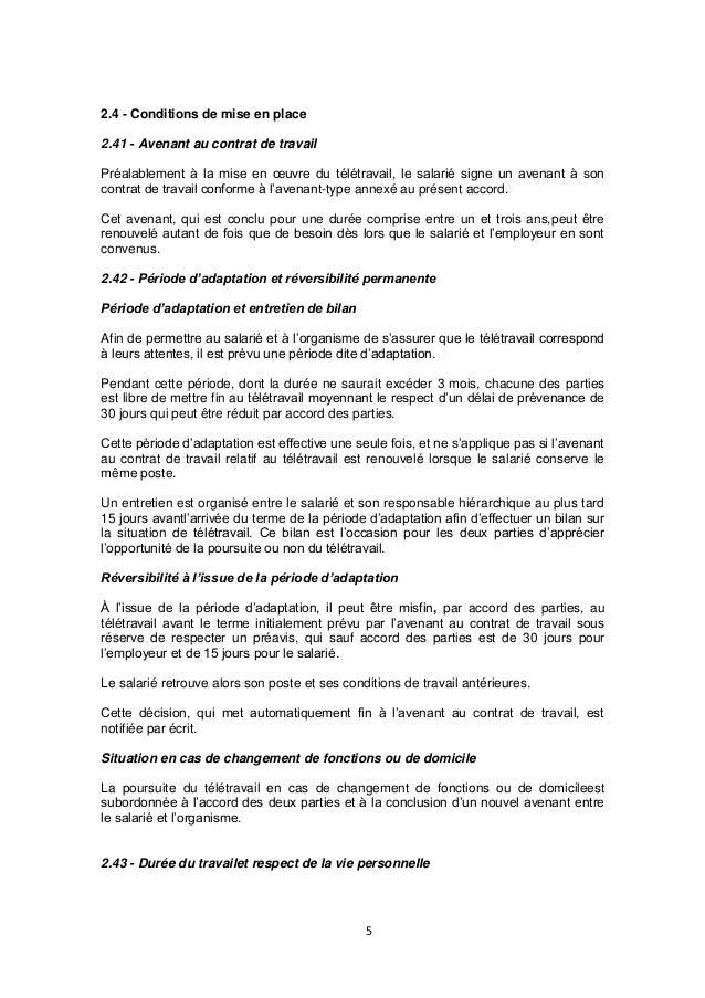 Modele De Protocole Daccord Entre Employeur Et Salarie