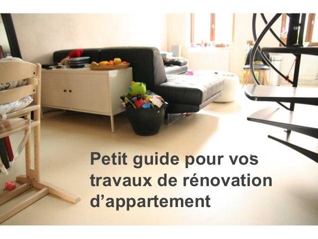 Petit guide pour vos travaux de rénovation d'appartement