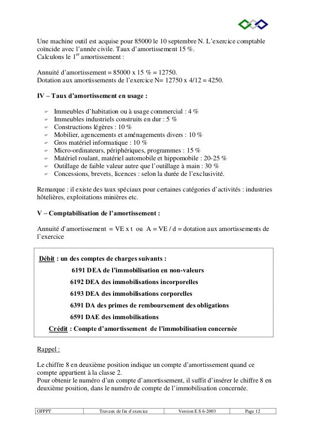TRAVAUX DE FIN DEXERCICE OFPPT PDF DOWNLOAD
