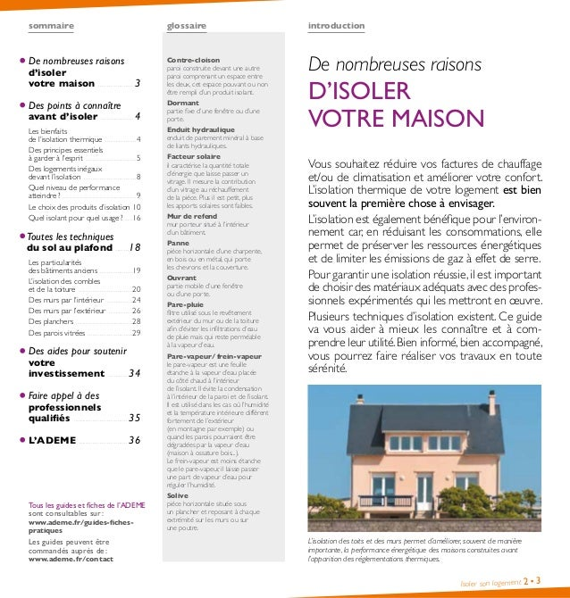 Guide pratique isolation logement par ademe - Isoler un appartement ...