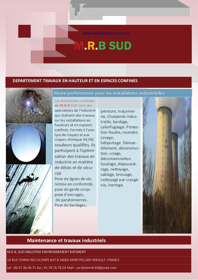 WWW.MRB-RENOVATION.FR                                            M.R.B SUDDEPARTEMENTTRAVAUXENHAUTEURETENESPAC...