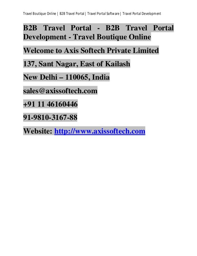 Travel Boutique Online | B2B Travel Portal | Travel Portal Software | Travel Portal Development B2B Travel Portal - B2B Tr...