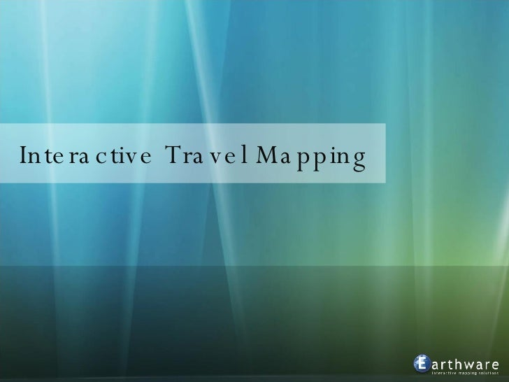 Interactive Travel Mapping