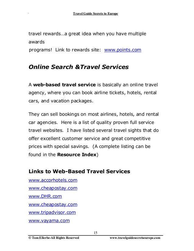 Travel secrets to europe 115pages 15 fandeluxe Choice Image