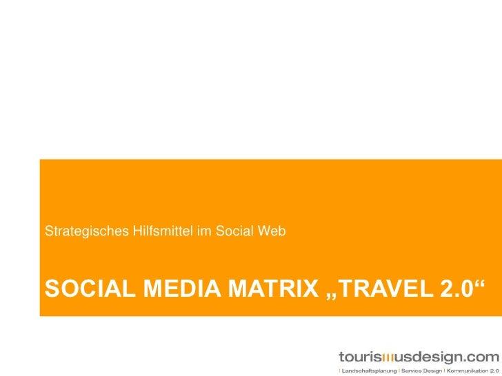 "Social media Matrix ""travel 2.0""<br />Strategisches Hilfsmittel im Social Web<br />"