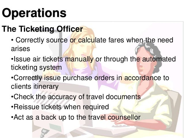 ticketing department in travel agency