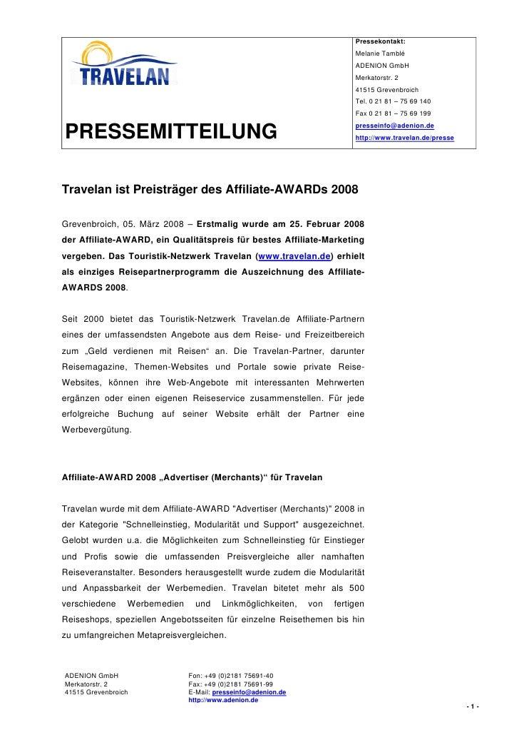 Pressekontakt:                                                                           Melanie Tamblé                   ...