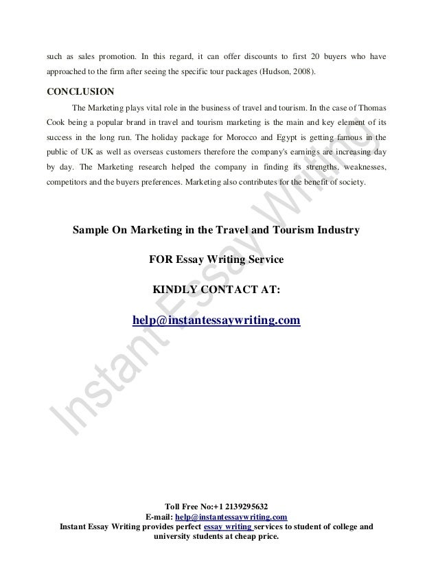 sample on the marketing in travel and tourism industry  24