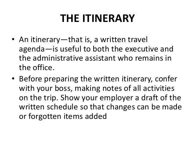 travel agendas