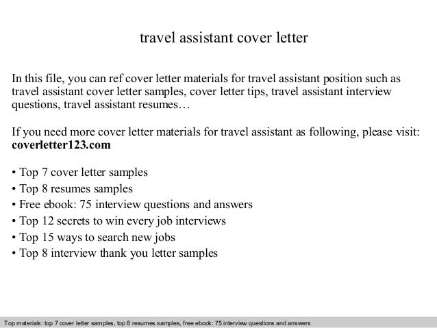 assistant cover letters