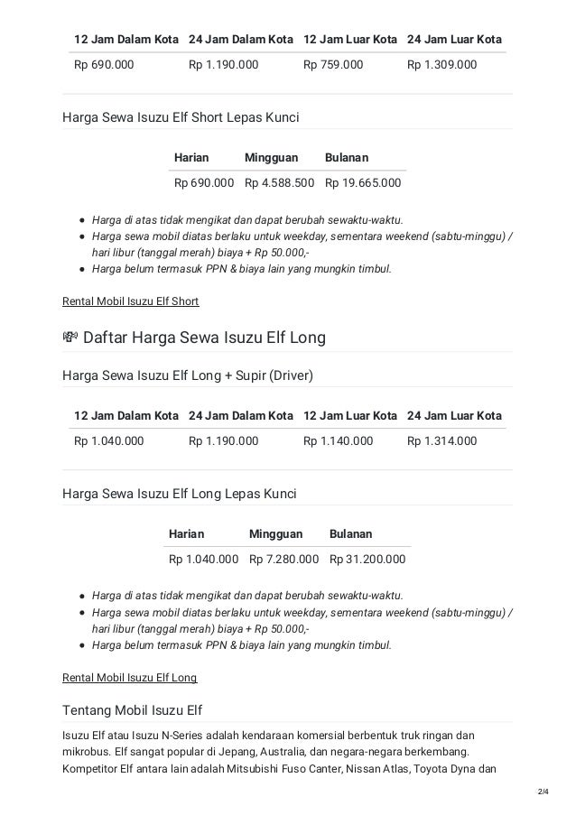 Rental Sewa Mobil Isuzu Elf Murah 0821 1313 0173 Travelbos Id