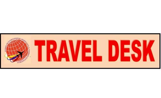 Travel desk logo SIHTM