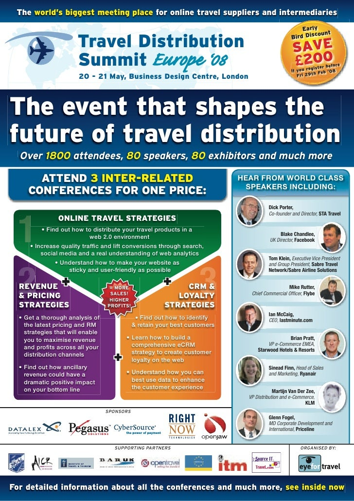 The world's biggest meeting place for online travel suppliers and intermediaries                                          ...