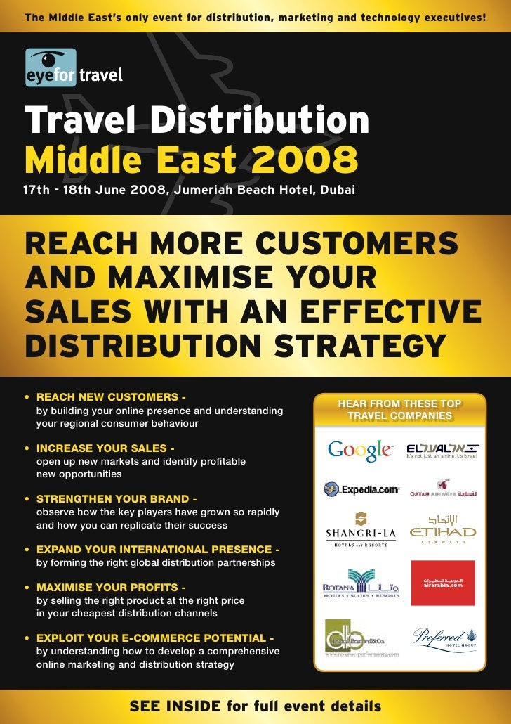The Middle East's only event for distribution, marketing and technology executives!     Travel Distribution Middle East 20...