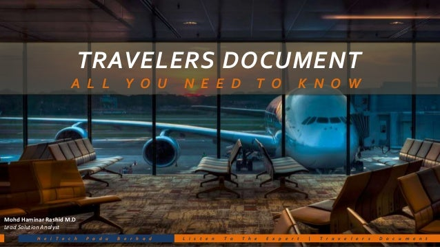 Travelers document All u need to know (Malaysian Passport)