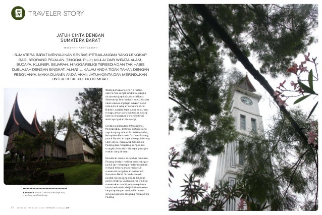 E D I S I 4 8 / F E B R U a r i 2 0 1 5 E D I S I 4 8 / F E B R U A R I 2 0 1 588 89 Kiri-kanan: Rumah tradisional Minangk...