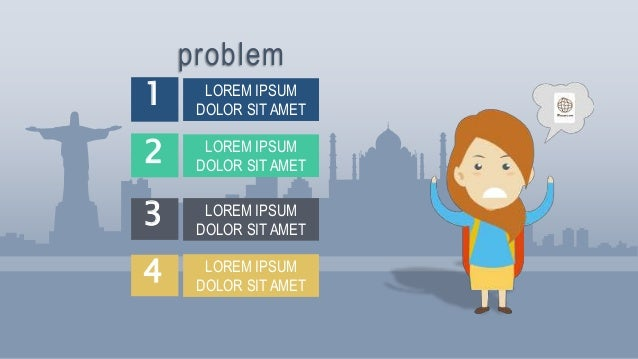 travel female animated ppt video template ppt video template sample